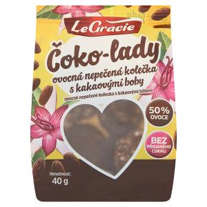 LeGracie Čoko-lady ovocná nepečená kolečka s kakaovými boby 40g