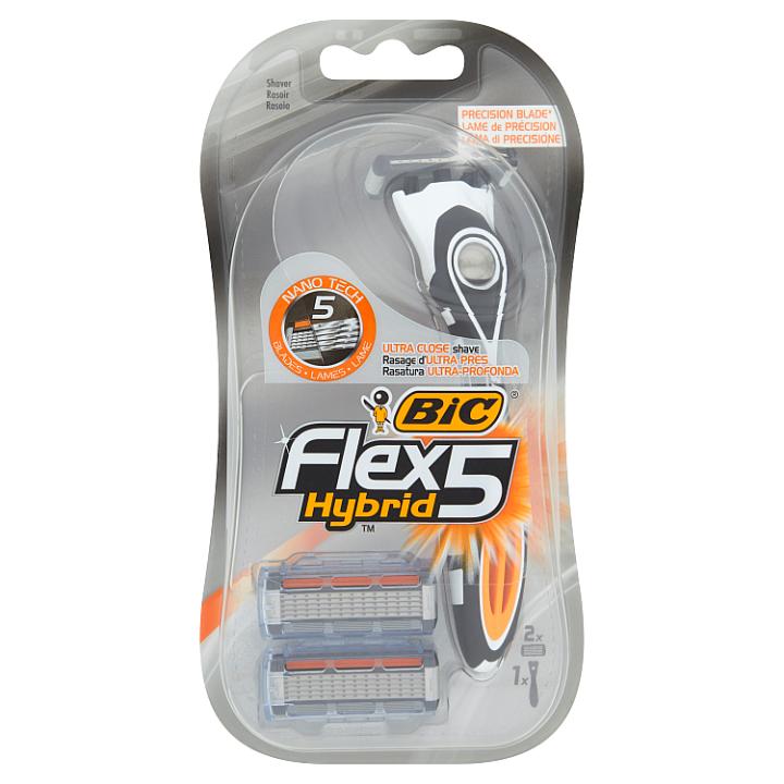 Bic Flex 5 Hybrid Holicí strojek + 2 náhradní břity