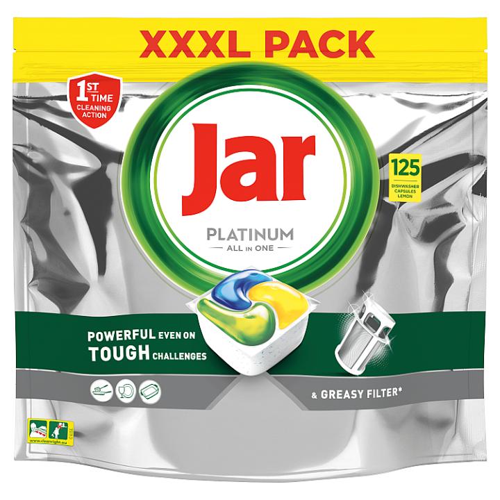 Jar Platinum Kapsle Do Automatické Myčky Nádobí Vše V Jednom Lemon, 125 Ks