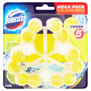 Domestos Power 5 Lime WC blok 3 x 55g