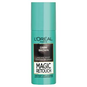 L'Oréal Paris Magic Retouch Sprej pro okamžité zakrytí odrostů tmavá hnědá 75ml