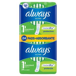 Always Ultra Standard (Velikost 1) Hygienické Vložky 24 ks
