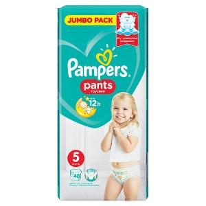 Pampers Pants Vel. 5, 48 Plenkových Kalhotek
