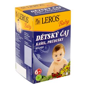 Leros Baby Dětský čaj kašel, průdušky bylinný 20 x 1,5g