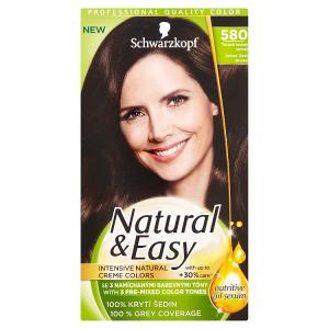 Natural & Easy Barva na vlasy tmavě hnědý samet 580
