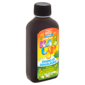 MaxiVita Herbal Kašlík bylinný sirup jitrocel mateřídouška + vitamin C 200ml