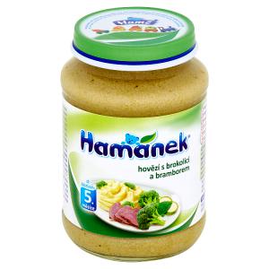 Hamánek Hovězí s brokolicí a bramborem 190g