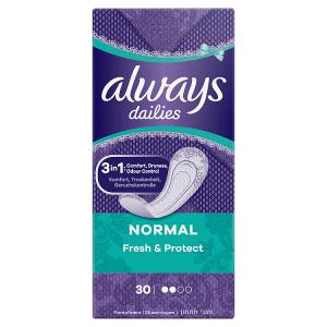 Always Dailies Normal Fresh & Protect Intimky Fresh 30ks
