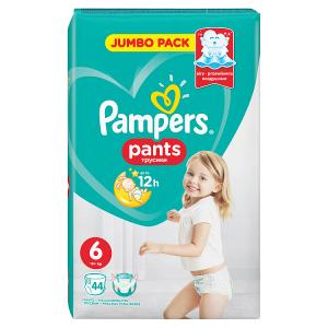 Pampers Pants Vel. 6, 44 Plenkových Kalhotek