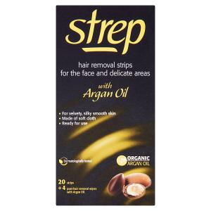 Strep Voskové pásky pro epilaci tváře a oblasti bikin s arganovým olejem 20 ks