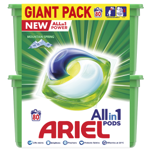 Ariel Allin1 Pods Mountain Spring Kapsle Na Praní 80 Praní