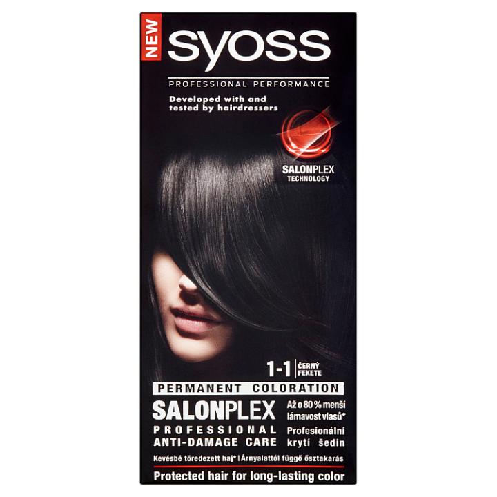 Syoss barva na vlasy Černý 1-1