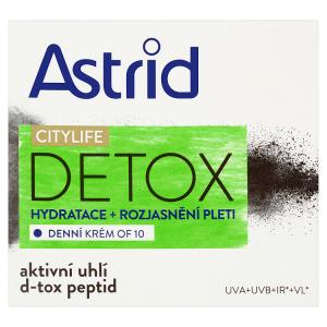 Astrid Citylife Detox Denní krém hydratace + rozjasnění pleti OF 10 50ml