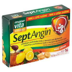 MaxiVita Herbal SeptAngin med, citron 16 pastilek 53,2g