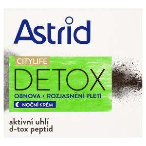Astrid Citylife Detox Noční krém obnova + rozjasnění pleti 50ml