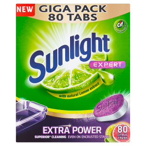 Sunlight All in 1 Extra Power Citrus Tablety do myčky nádobí 80 ks 1400g