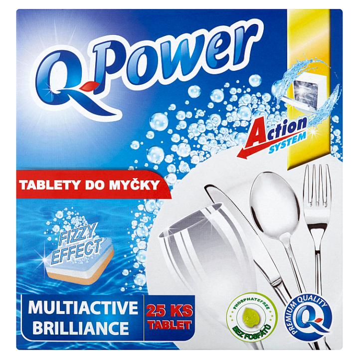 Q-power Multiactive Brilliance tablety do myčky 25 tablet
