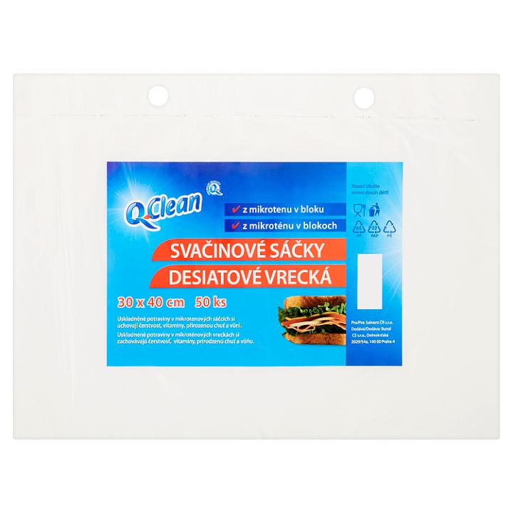 Q-Clean Svačinové sáčky 30 x 40 cm 50 ks Q-Clean