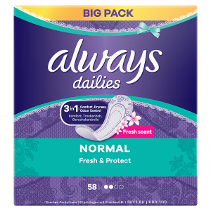 Always Dailies Normal Fresh & Protect Intimky  58ks
