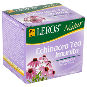 Leros Natur Echinacea Tea imunita bylinný čaj 10 x 2g