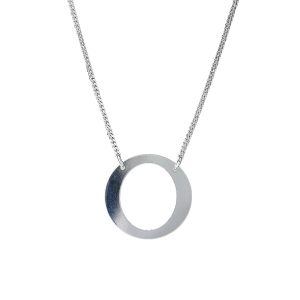 PRAQIA Stříbrný náhrdelník Frame