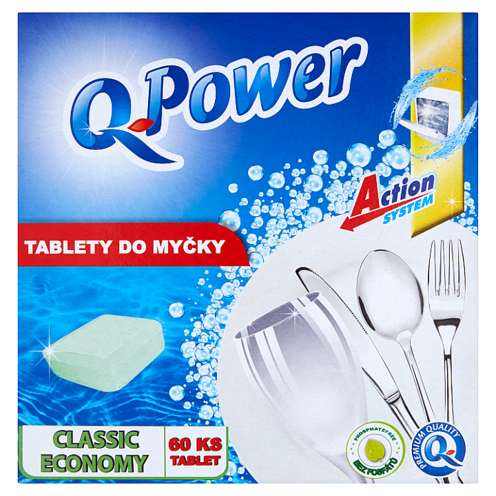 Q-Power Classic economy tablety do myčky 60 tablet