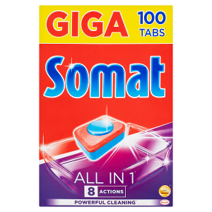 Somat All in 1 Tablety do myčky na nádobí 100 tablet 1800g