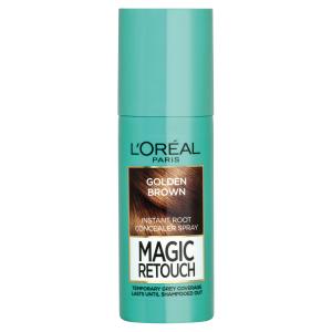 L'Oréal Paris Magic Retouch Sprej pro okamžité zakrytí odrostů oříškově hnědá 75ml