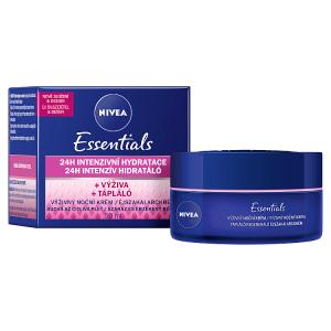 Nivea Essentials Výživný noční krém suchá až citlivá pleť 50ml