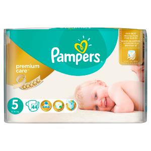 Pampers Premium Care Velikost 5 (Junior) 11 - 18 kg, 44 Kusů