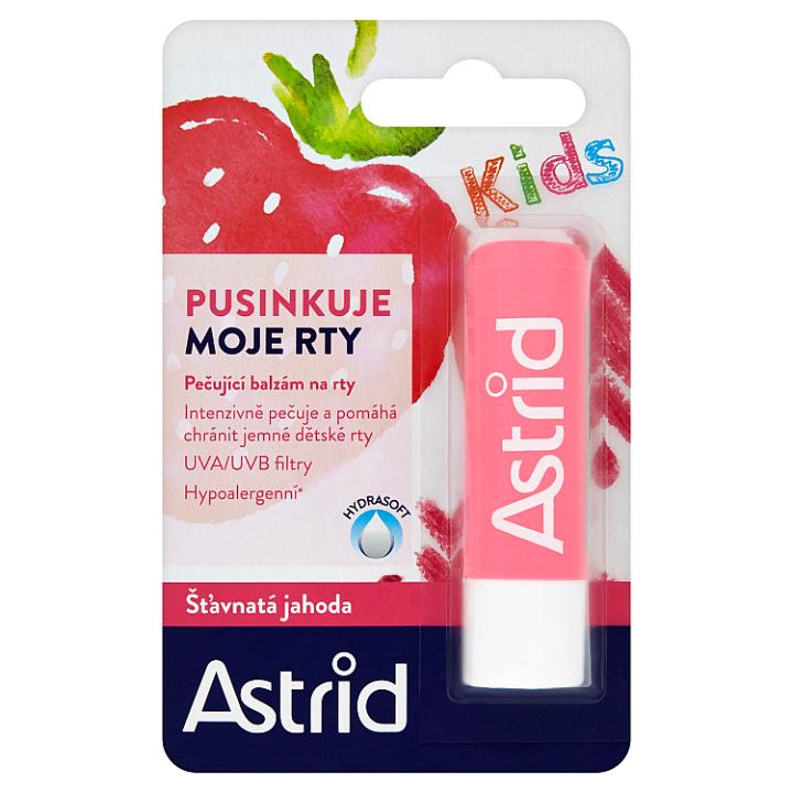 Astrid Kids Pečující balzám na rty šťavnatá jahoda 4,8g
