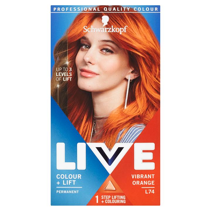 Schwarzkopf Live barva na vlasy Vibrant Orange L74