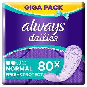 Always Dailies Normal Fresh & Protect Intimky Fresh 80ks