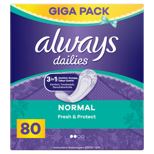 Always Dailies Normal Fresh & Protect Intimky Fresh 80ks