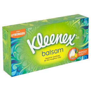 Kleenex Balsam papírové kapesníky 3-vrstvé 72 ks