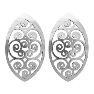 PRAQIA Stříbrné náušnice NA0637 Spiral