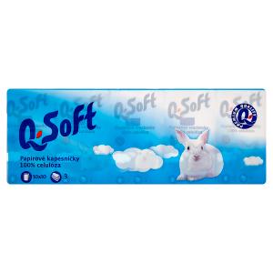 Q-Soft Papírové kapesníčky 3-vrstvé 10 x 10 ks