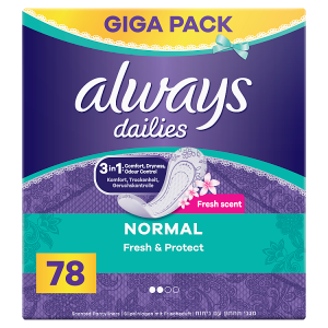 Always Dailies Normal Fresh & Protect Intimky  78ks