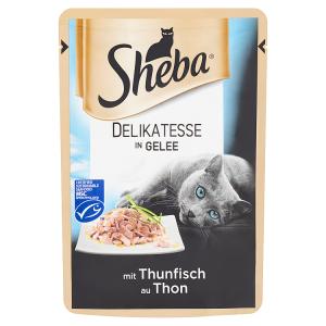 Sheba Delikatesse in Gelee Tuňák v želé 85g