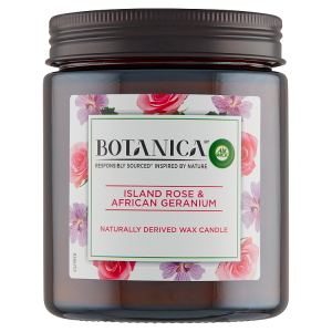 Botanica by Air Wick Svíčka exotická růže a africká pelargónie 205g