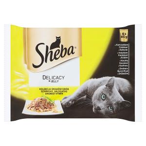 Sheba Delicacy in Jelly Drůbeží výběr 4 x 85g