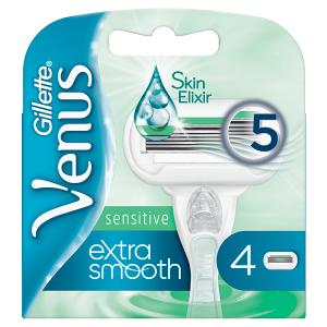 Venus Sensitive Extra Smooth Náhradní Holicí Hlavice 4x