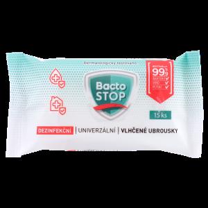 BactoSTOP Dezinf.vlhčené ubr(15ks/sáč)