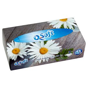 Q-Soft Papírové kapesníky 3 vrstvé 80 ks