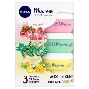 Nivea Soft Mix Me Svěží hydratační krém - limitovaná edice 3 x 50ml