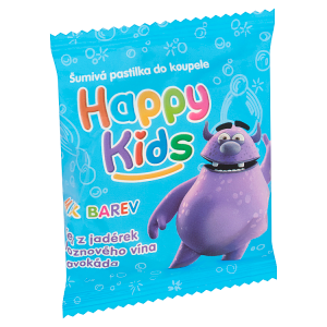 Happy Kids Šumivá pastilka do koupele 40g - mix variant