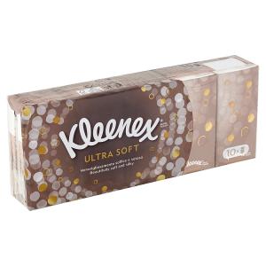 Kleenex Ultra Soft papírové kapesníky 4-vrstvé 10 x 9 ks