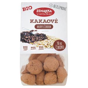 Biopekárna Zemanka Bezlepkové čirokové bio sušenky vločkové s kakaem 100g
