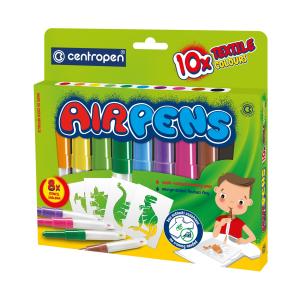 Centropen Foukací fixy Air pens na textil 10 ks