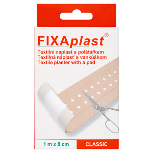 Fixaplast Textilní náplast s polštářkem 1mx8cm